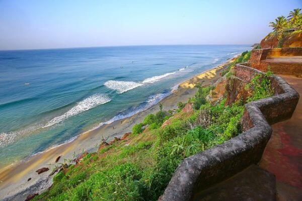 "Varkala Seabed in God's Own Country ""Kerala"" Best Destinations for Solo Trip in India"